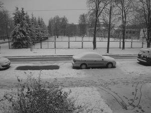Рига. Первый снег.